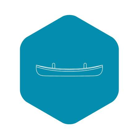 Small boat icon. Outline illustration of small boat vector icon for web Illustration