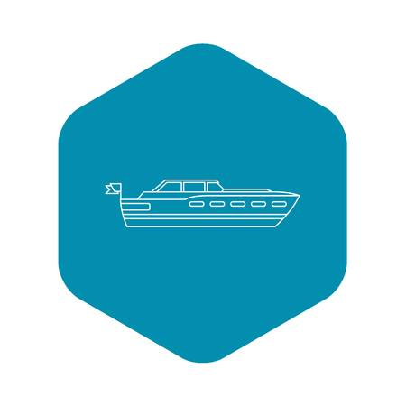 Big yacht icon. Outline illustration of big yacht vector icon for web Illustration