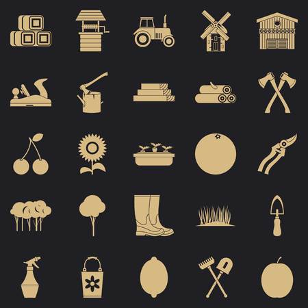 Development icons set. Simple set of 25 development icons for web for any design Ilustração
