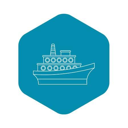 Big ship icon. Outline illustration of big ship vector icon for web