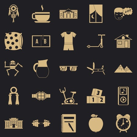 Alarm clock icons set. Simple set of 25 alarm clock icons for web for any design Illustration