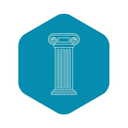Roman column icon, outline style
