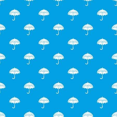 Opened umbrella pattern vector seamless blue Vetores