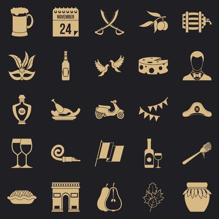 Binge icons set. Simple set of 25 binge icons for web for any design