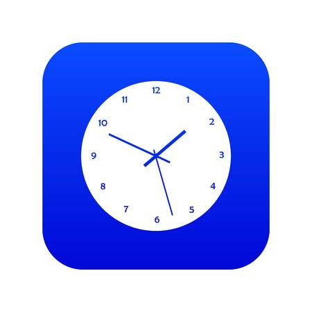 Watch icon digital blue for any design isolated on white vector illustration
