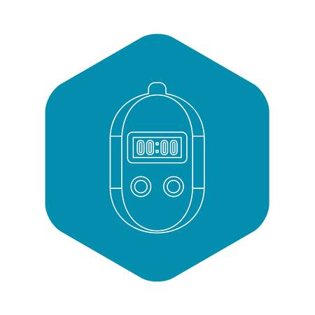 Stopwatch icon. Outline illustration of stopwatch vector icon for web Illustration