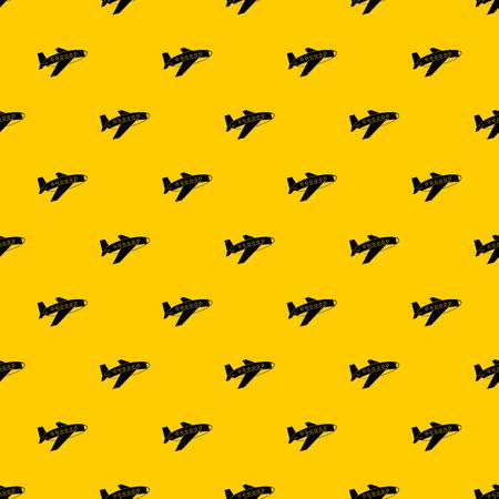 Airplane pattern seamless vector repeat geometric yellow for any design Illustration