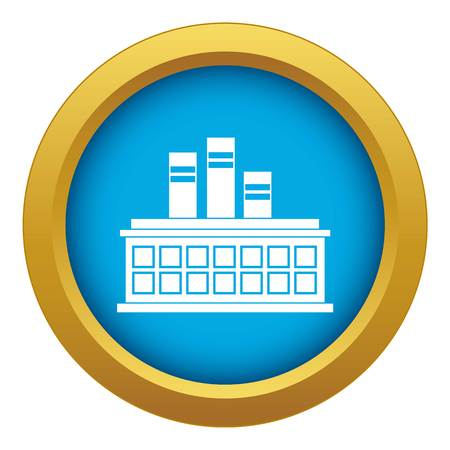 Oil refinery plant icon blue vector isolated on white background for any design