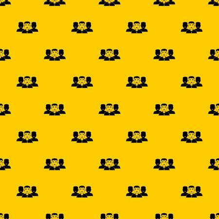 People group pattern seamless vector repeat geometric yellow for any design