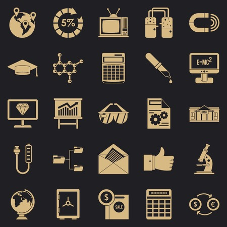 Startup icons set. Simple set of 25 startup icons for web for any design