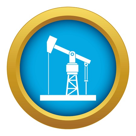 Oil pump icon blue vector isolated on white background for any design