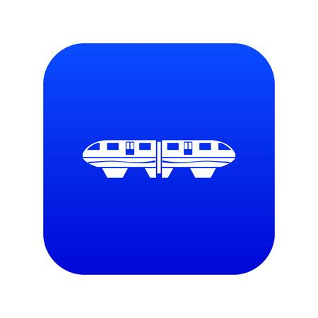 Monorail train icon digital blue for any design isolated on white vector illustration