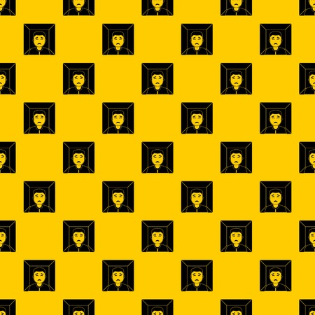 Man pattern seamless vector repeat geometric yellow for any design