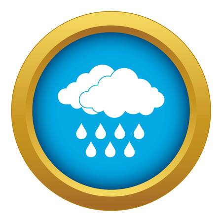 Cloud icon blue vector isolated on white background for any design 向量圖像