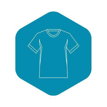 Men tennis t-shirt icon. Outline illustration of men tennis t-shirt vector icon for web Illustration