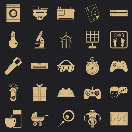 Robot icons set. Simple set of 25 robot icons for web for any design