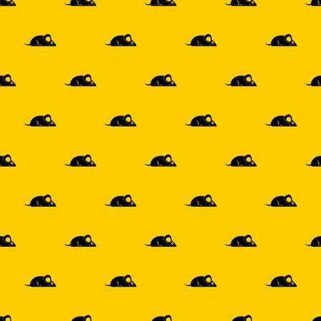 Pet mouse pattern seamless vector repeat geometric yellow for any design