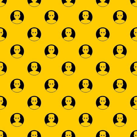 Man in the dark pattern seamless vector repeat geometric yellow for any design Illustration