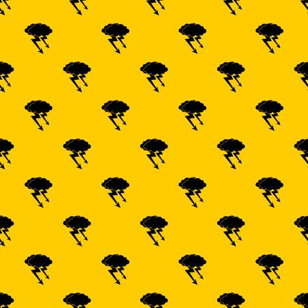 Lightning cloud pattern seamless vector repeat geometric yellow for any design Illustration