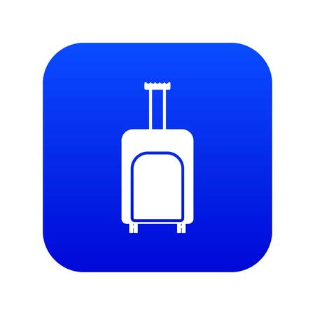 Travel suitcase icon digital blue for any design isolated on white vector illustration