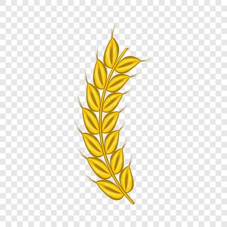 Stalk of ripe barley icon, cartoon style