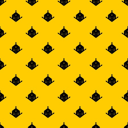 Measurement cube square pattern seamless vector repeat geometric yellow for any design