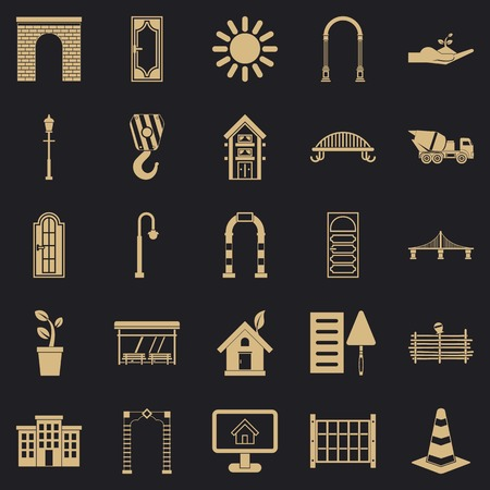 Digging icons set. Simple set of 25 digging vector icons for web for any design Illustration