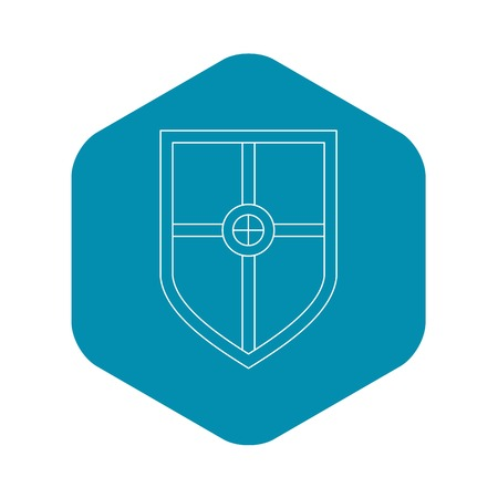 Shield for fight icon. Outline illustration of shield for fight vector icon for web