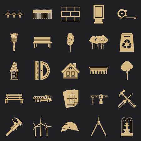 Composition icons set. Simple set of 25 composition vector icons for web for any design Ilustrace