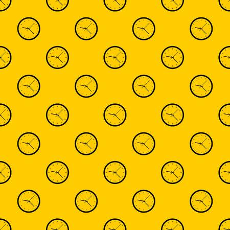 Wall clock pattern seamless vector repeat geometric yellow for any design Illustration