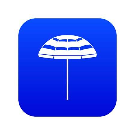 Beach umbrella icon digital blue Illustration