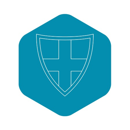 Shield for protection icon. Outline illustration of shield for protection vector icon for web