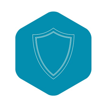 Shield for war icon. Outline illustration of shield for war vector icon for web