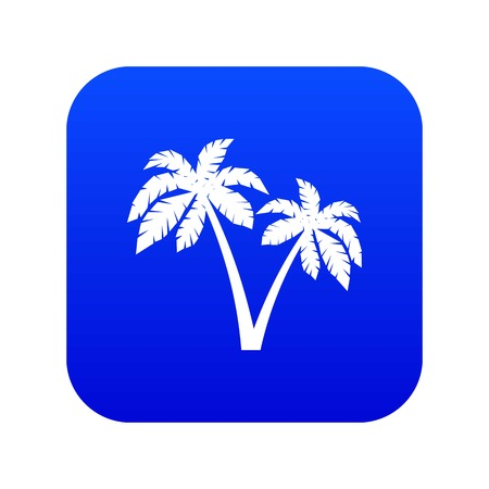 Two palms icon digital blue for any design isolated on white vector illustration 矢量图像