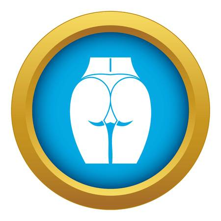Buttocks of girl icon blue vector isolated Vector Illustratie