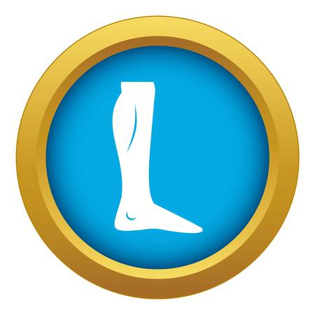 Human leg icon blue vector isolated Illustration