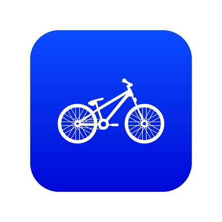 Bike icon digital blue for any design isolated on white vector illustration