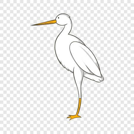 White crane icon, cartoon style  イラスト・ベクター素材