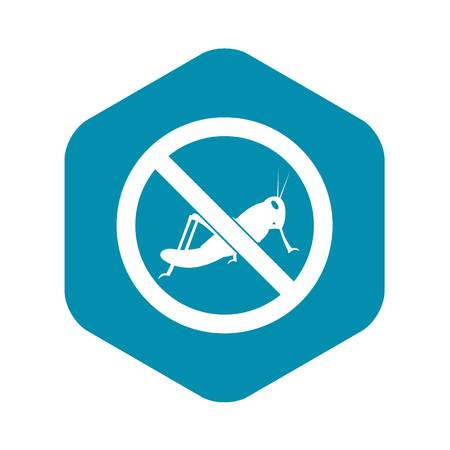 No locust sign icon in simple style isolated on white background Çizim