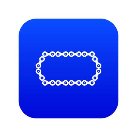 Bicycle chain icon digital blue for any design isolated on white vector illustration Ilustrace