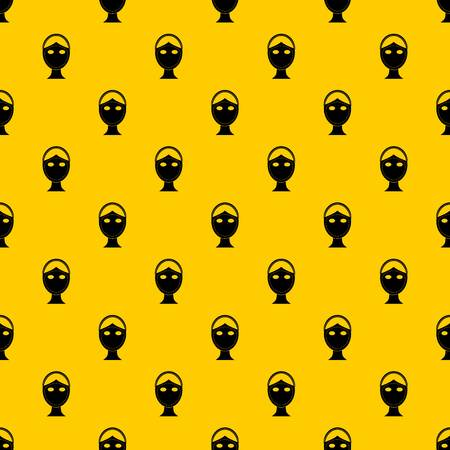 Face marked out for cosmetic surgery pattern seamless vector repeat geometric yellow for any design