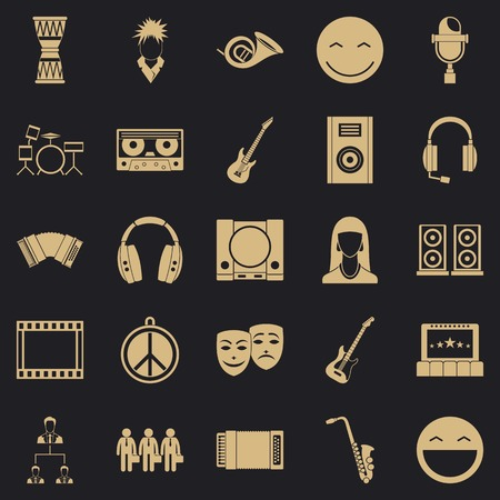Speech icons set. Simple set of 25 speech vector icons for web for any design