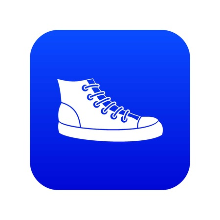 Sneakers icon digital blue for any design isolated on white vector illustration