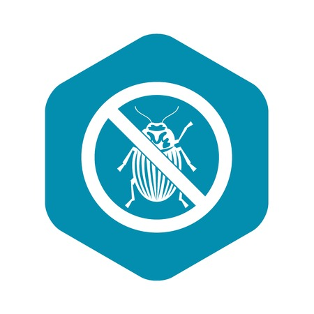 No potato beetle sign icon, simple style