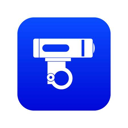 Bike light icon digital blue for any design isolated on white vector illustration Ilustrace