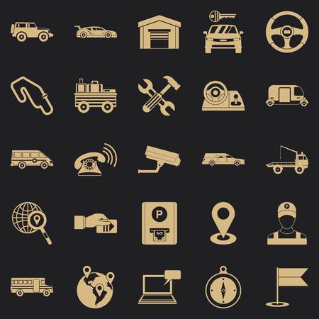 Barrow icons set. Simple set of 25 barrow icons for web for any design