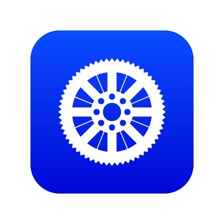 Sprocket from bike icon digital blue for any design isolated on white vector illustration Ilustrace