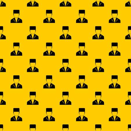 Medical doctor pattern seamless vector repeat geometric yellow for any design Ilustração
