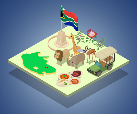 Kenya concept banner. Isometric banner of kenya vector concept for web, giftcard and postcard