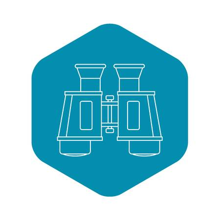 Binoculars icon, outline style